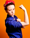 Lisa as Rosie The Riveter